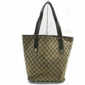 Auth Gucci Tote Bag Brown Canvas #7440G92